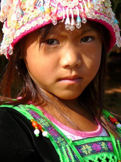 Petite fille Mhong Laos