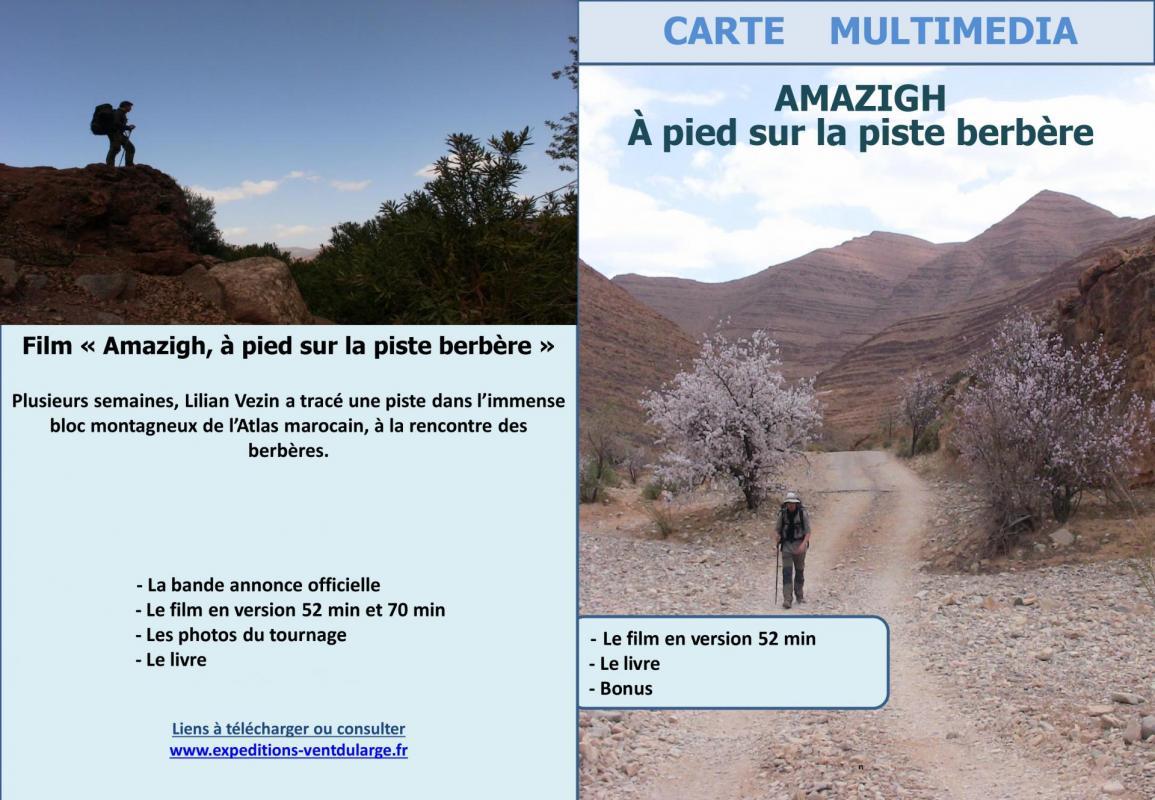 Carte multimedia amazigh sur la piste berbere