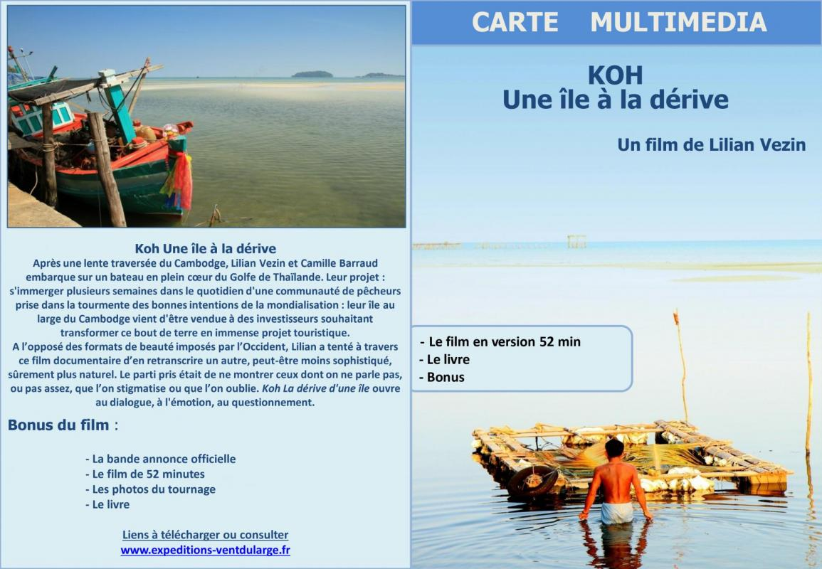 Carte multimedia koh une ile a la derive