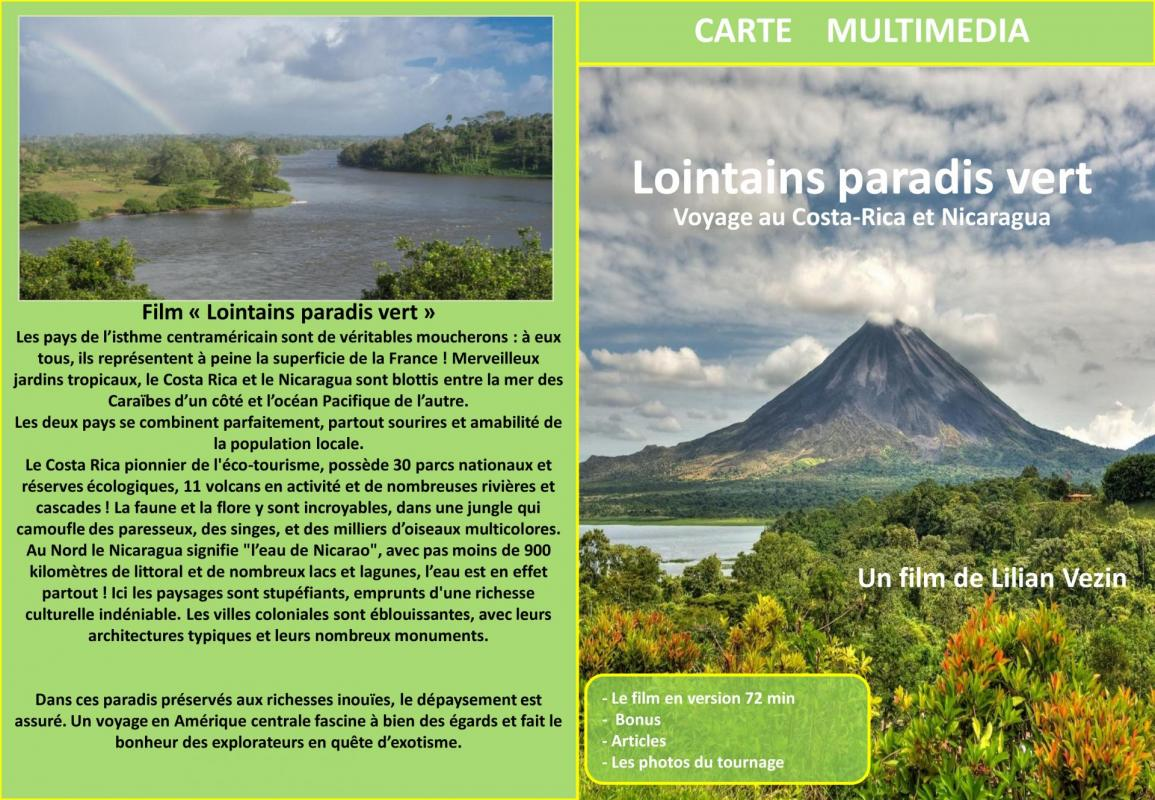 Carte multimedia lointains paradis vert 1