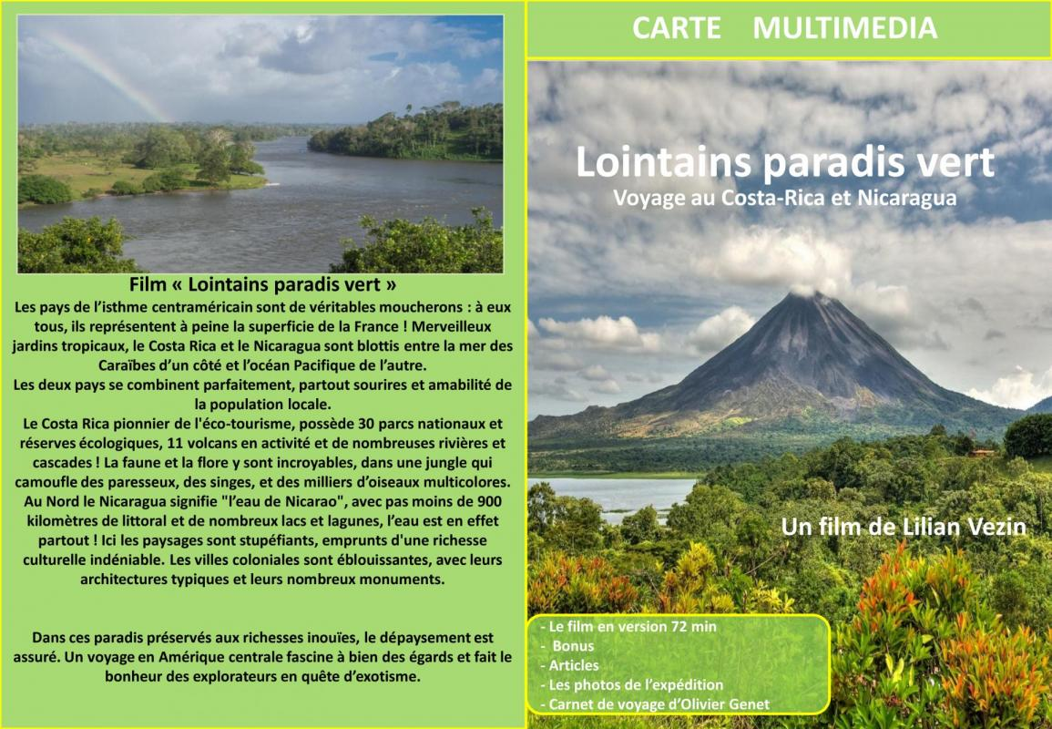 Carte multimedia lointains paradis vert 2