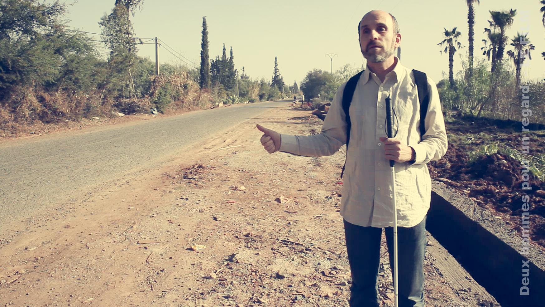 Jean-Pierre en stop sur la route de Marrakech